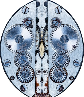 Uurwerk oud mechanisch horloge hoge resolutie en detail