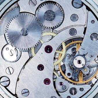 Uurwerk oude mechanische ussr horloge hoge resolutie en detail