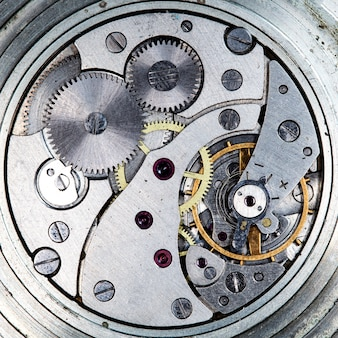 Uurwerk vintage mechanisch horloge hoge resolutie en detail