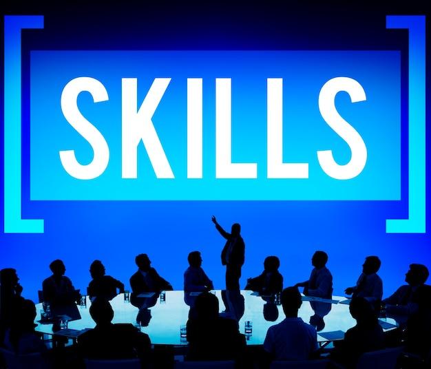 Vaardigheid in een teamwerkvergadering