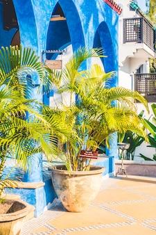 Vaasplant decoratie buitenkant