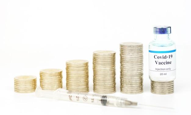 Vaccins en munten in thailand gebruikt ter preventie van vaccinatie coronavirus covid19