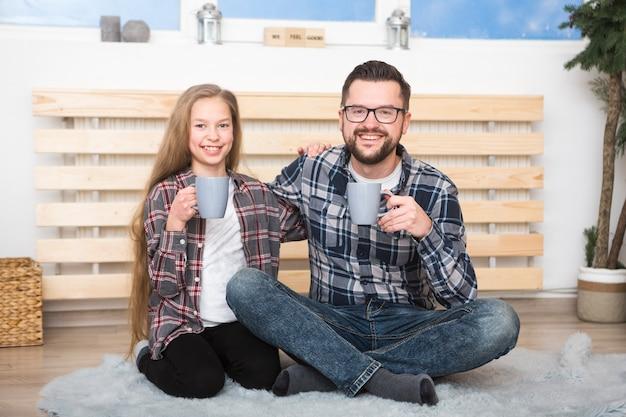 Vader en dochter samen op vadersdag