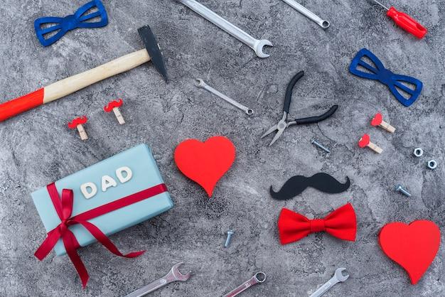 Vaderdag arrangement van spullen