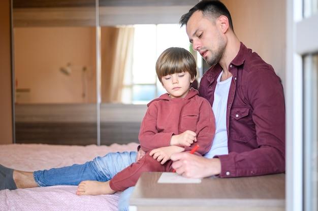 Vaderdagconcept met vadertekening