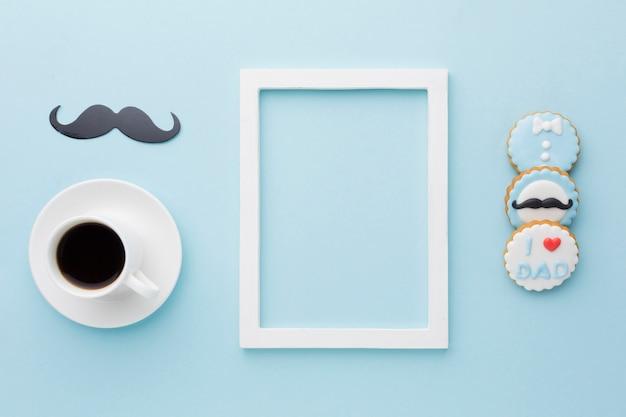Vaderdagevenement met wit frame
