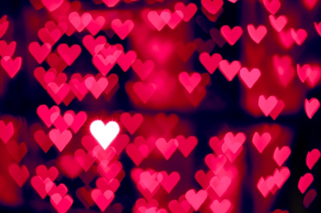 Vage rode hart bokeh abstracte achtergrond