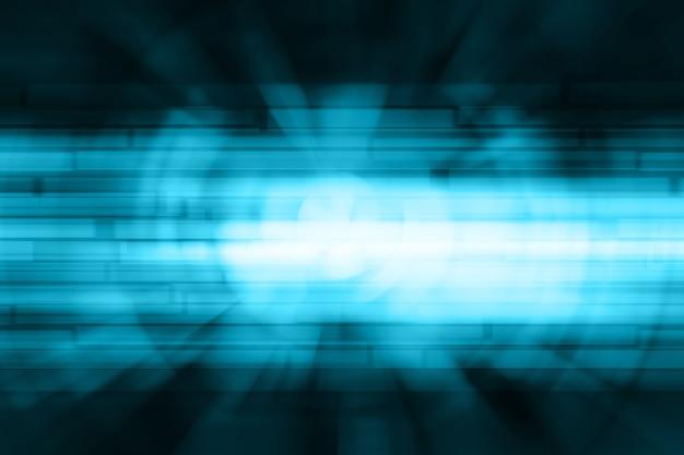 Vage vierkanten bokeh op blauwe abstracte achtergrond