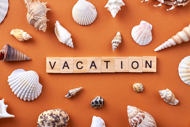 Vakantie concept plat leggen.