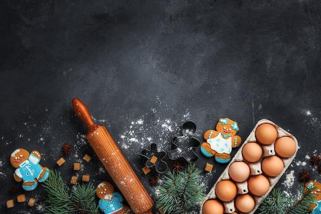 Vakantie feest en koken concept met peperkoek