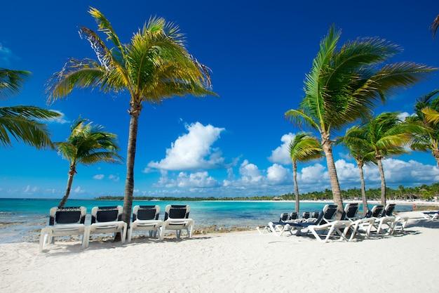 Vakantie op de malediven, hangmatten op het strand op de malediven