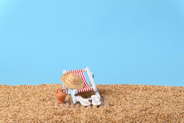 Vakantie op een strand op een mooie zonnige dag.