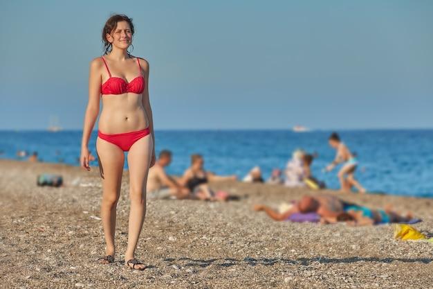 Vakantie op zee tijdens zomerseizoen 2021.