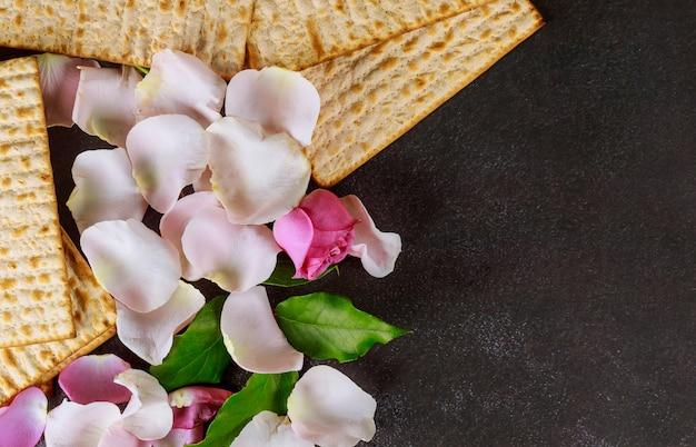 Vakantie pesah viering joods pascha brood met matzoh