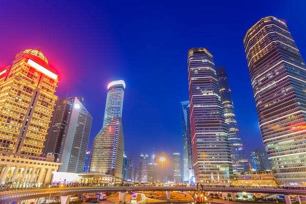 Vakantie shanghai straat water oriëntatiepunt beroemd