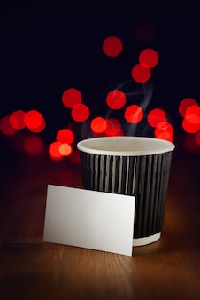 Vakantie warme koffie