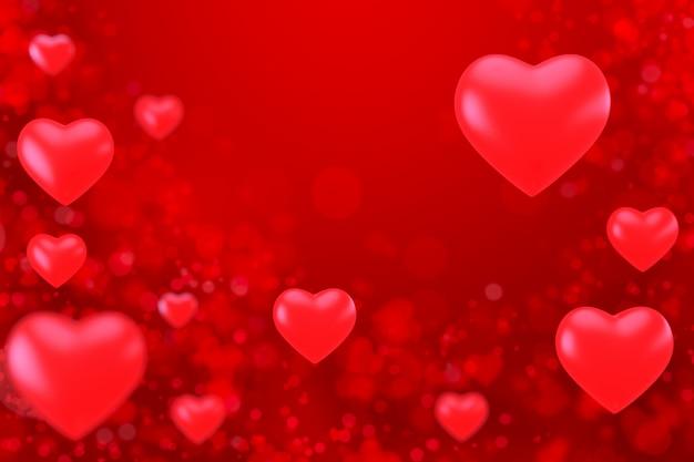 Valentijnsdag achtergrond. 3d render.