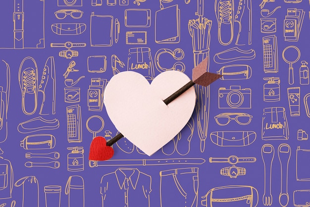 Valentijnsdag achtergrond Gratis Foto