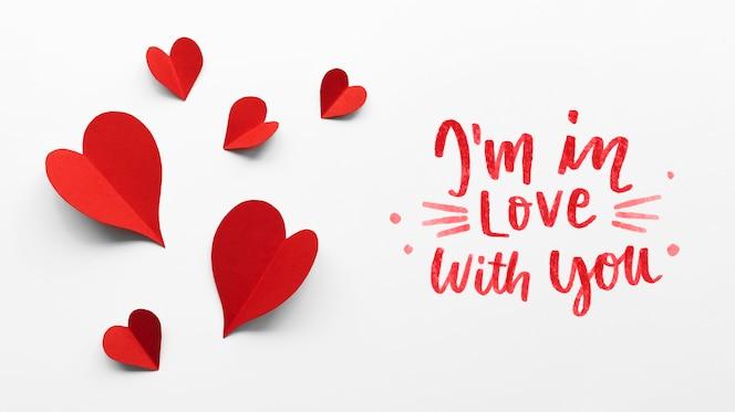 Valentijnsdag arrangement met tekst