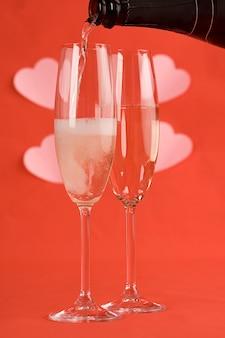 Valentijnsdag champagne