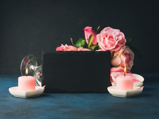 Valentijnsdag concept en wenskaart