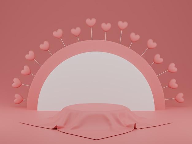 Valentijnsdag concept, roze harten ballonnen