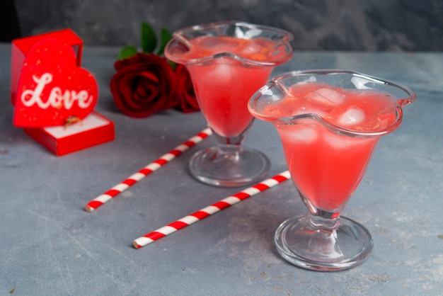 Valentijnsdag diner romantische scènes detail