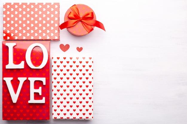 Valentijnsdag geschenkdozen