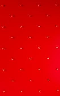 Valentijnsdag harten achtergrondpatroon. gewaagde rode kleur plat lag. hou van viering wenskaart, poster, sjabloon voor spandoek voor feest