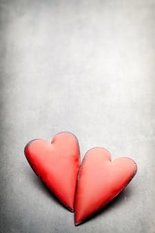 Valentijnsdag harten. valentine day greating kaart.