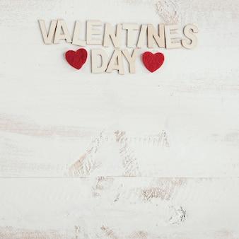 Valentijnsdag houten letters