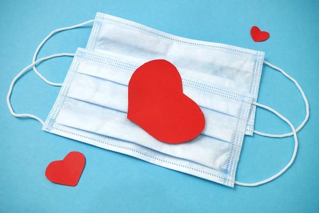 Valentijnsdag in pandemie tijd concept