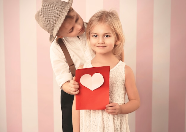 Valentijnsdag kaart van geliefde vriend