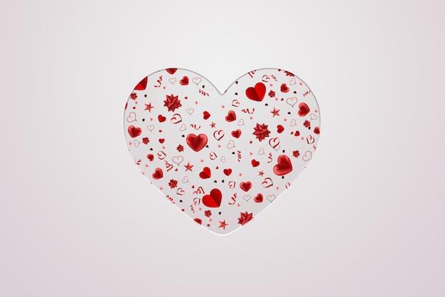 Valentijnsdag kerstkaart met inscriptie op een licht