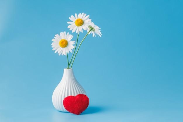 Valentijnsdag - madeliefje en hart