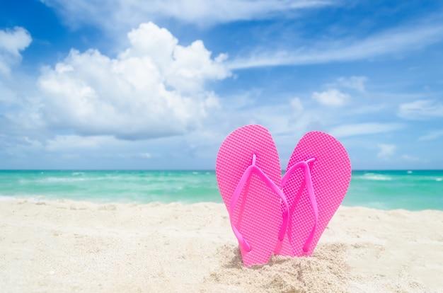 Valentijnsdag op het strand van miami