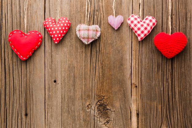 Valentijnsdag ornamenten met kopie ruimte