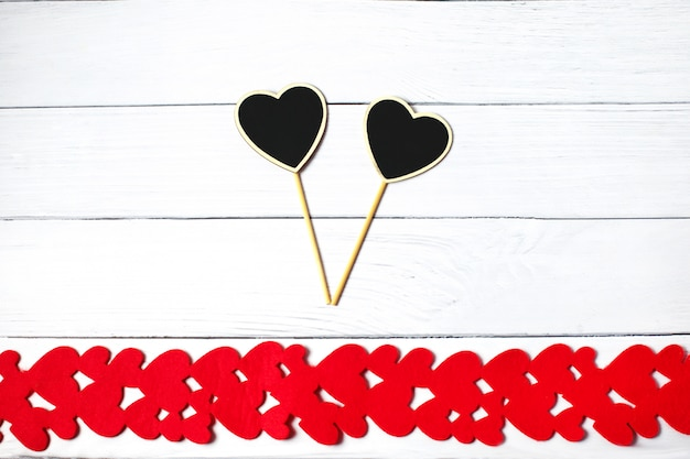Valentijnsdag rood hart van vilt