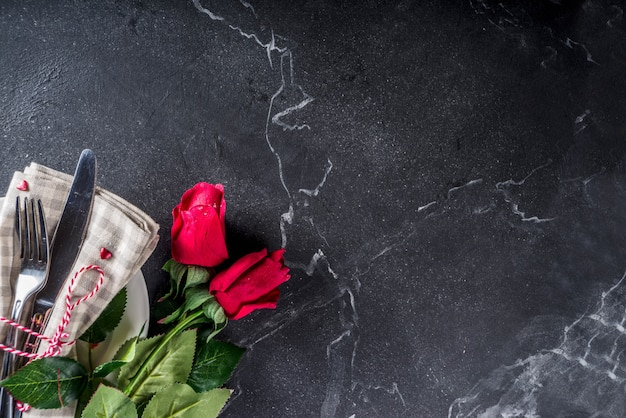 Valentijnsdag tabel couvert