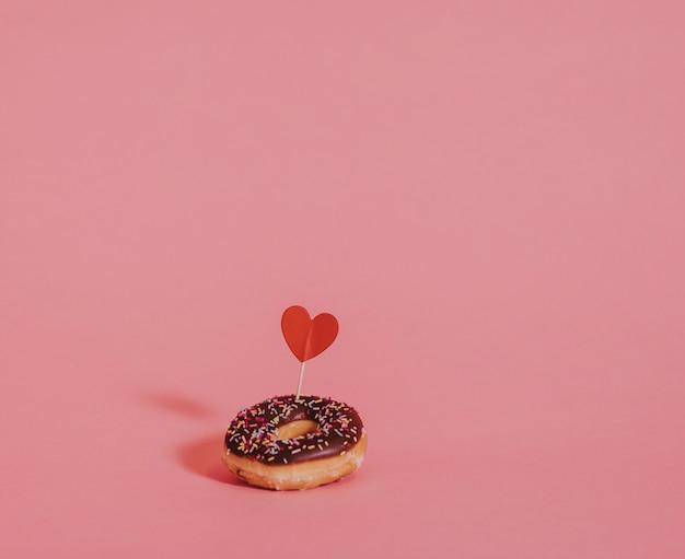 Valentijnsdag verrassing donut