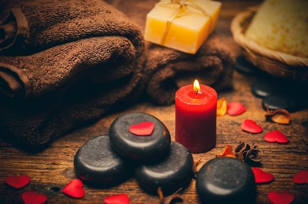 Valentijnsdag. wellness decoratie