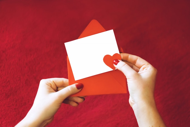 Valentijnsdag wenskaart, mockup