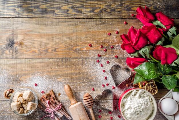 Valentine dag bakken achtergrond