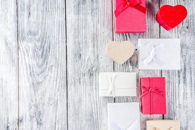 Valentine geschenkdozen achtergrond