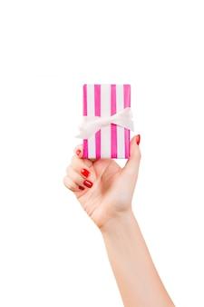 Valentine-gift dichte omhooggaand op wit