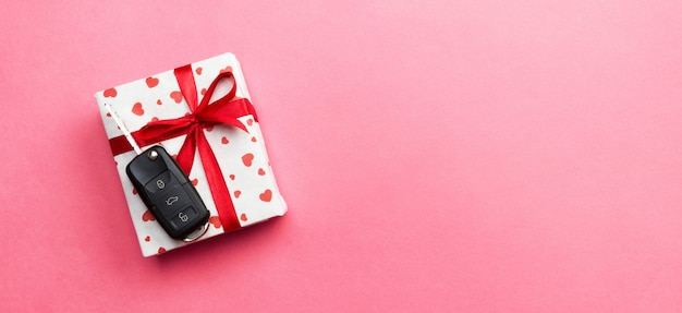 Valentine-giftdoos met autosleutel