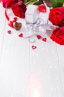 Valentine's chocolate-love hartvormige bonbons met cadeauverpakking