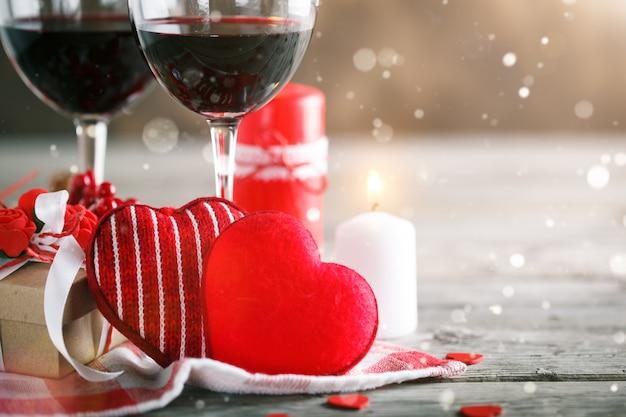 Valentine-scène met liefdeelementen