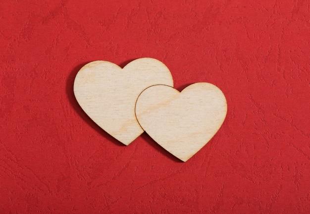 Valentines achtergrond met rood hart
