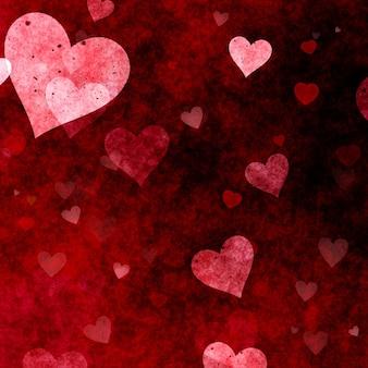 Valentines day achtergrond met grunge harten ontwerp